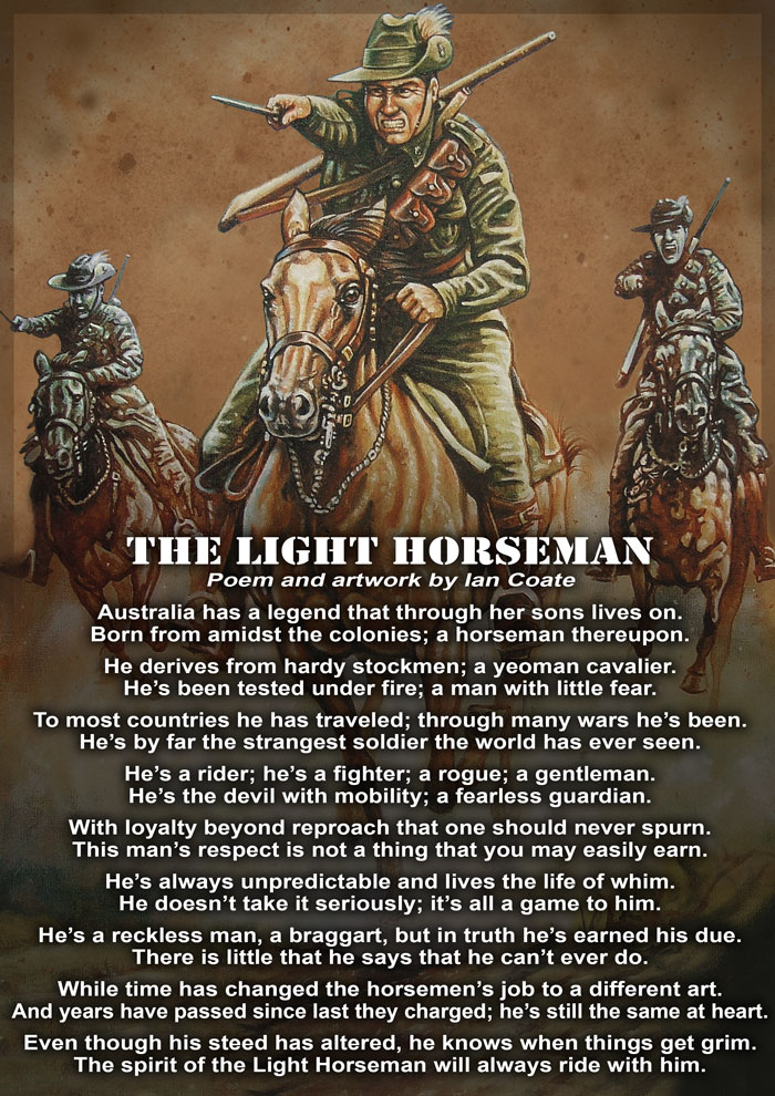 Australian Light Horse Poem by Ian Coate